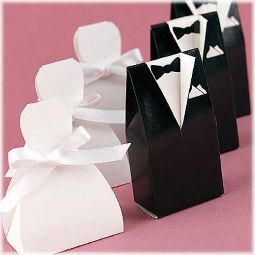 Tuxedo And Wedding Dress Favor Bo