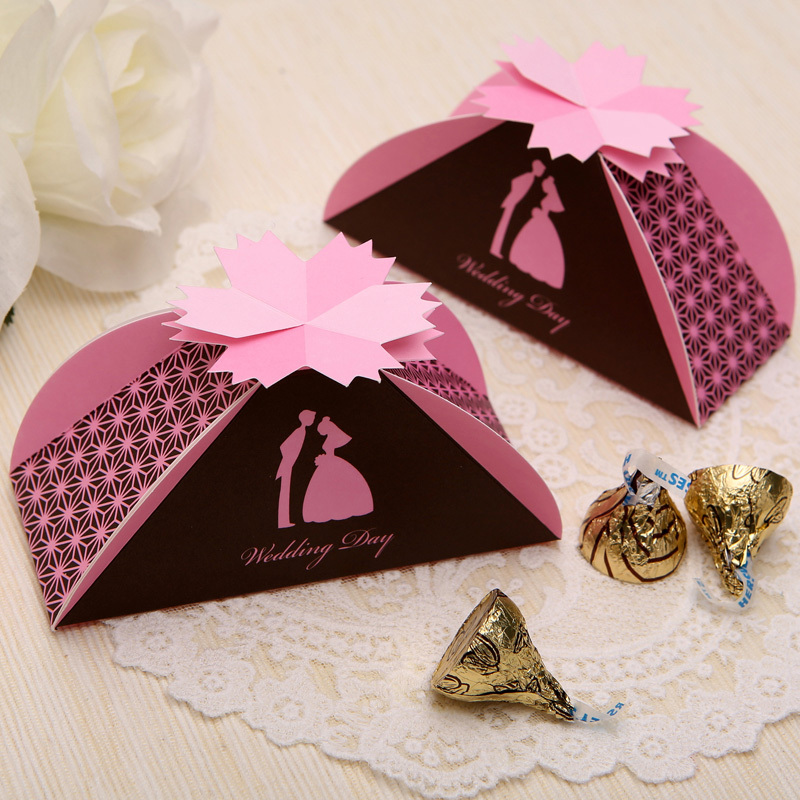 Wedding in pink favor box knotville wedding in pink favor box pink solutioingenieria Choice Image